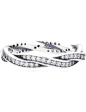 Pandora Damen-Ring 925 Sterling Silber Zirkonia weiß 190892CZ