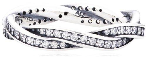 Pandora anello in argento con zirconia cubica e perla, misura l, 190892cz-52