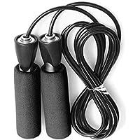 LridSu Saltar Cuerdas Rodamientos rápidos Rodaje Ajustable Cuerda de Espuma Mango Saltar Cuerda para Entrenar (Color : Black Green, tamaño : Length2.9m)