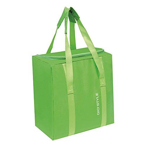 Kühltasche, 25Liter, Gio Style Elektrokuehlbox Fiesta, senkrecht mit Griff aus Farben Orange Grün, Blau und Gelb