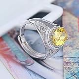 Mayanyan S925 Sterling Silber eingelegt Edelstein Ring einstellbar tragen Größe Urlaub Geschenke für Herren