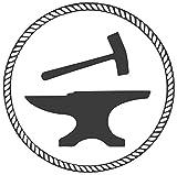 KE OU Blacksmith Clipart Tin Sign Metal Plaque Vintage Iron Painting Art Work Warning Store Home Yard Cafe Bar Kitchen Lounge