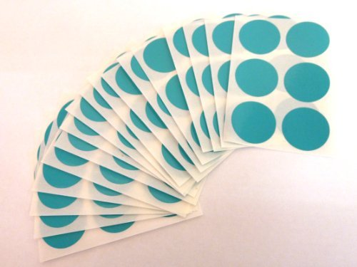 102 etiquetas, 25mm diámetro redondo, turquesa, código de color PEGATINAS, autoadhesivo ADHESIVO PUNTOS DE COLORES