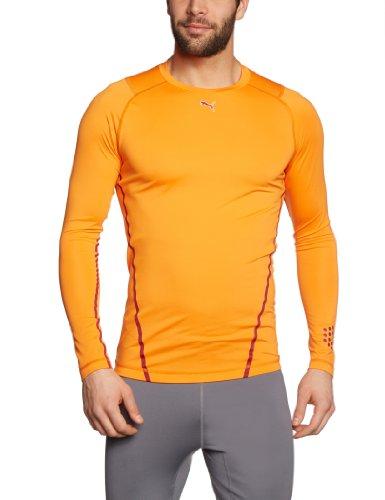 PUMA Herren T-Shirt Long Sleeve Funktion Monoline vibrant orange