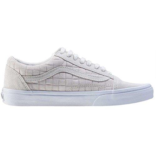 Vans Old Skool, Baskets Basses Mixte Adulte Blanc