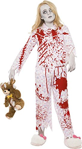 Kinder Halloween Fancy Party Kostüm Zombie Schlafanzug Girl Kinder komplett Kleid Gr. M , multi (Komplette Zombie Kostüm)