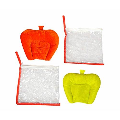 Preisvergleich Produktbild Ahorn KRAFTS senf Samen Füllung Baby Kissen–Rot Gelb, bis zu 6Monate, faltbar, Hand waschbar