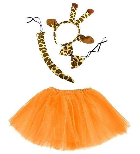 Unbekannt Giraffe Kinder oder Damen Kostüm - Giraffe Costume Set - vertrieb durch ABAV (Komplett Set Mädchen) (Giraffe Mädchen Kostüm)