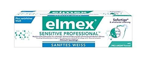 elmex SENSITIVE PROFESSIONAL SANFTES WEISS Zahnpasta, 2er Pack (2 x 75 ml)