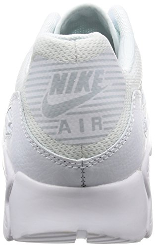Nike Damen Wmns Air Max 90 Ultra 2.0 Sneakers, Elfenbein (White/Mtlc Platinum/White/Black), 38 EU - 2