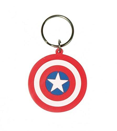 Captain America-Marvel-Captain America Shield-direction gomma portachiavi
