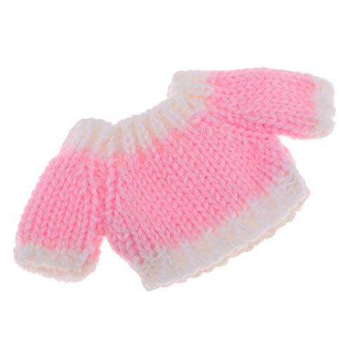 24211a4a54 KESOTO Suéter de Ropa para OB11 Mini Blythe Doll Tops Tejidos de Punto -  Rosado