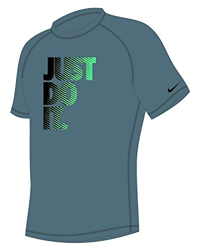 Nike Men's Hydroguard Short Sleeve Dri-Fit Rash Guard Shirt (Nike Dri-fit-pull)