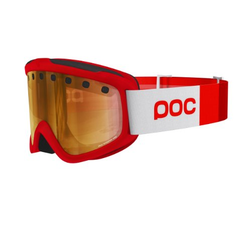 POC Skibrille Iris Stripes, 40042, Zirconium Red,  Regular (Herstellergröße:M )