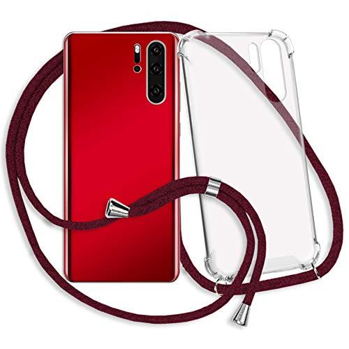 mtb More Energy® Collar Smartphone para Xiaomi Mi MAX 3 (6.9'') - Rojo Oscuro - Funda Protectora ponible - Carcasa Anti Shock con Cuerda