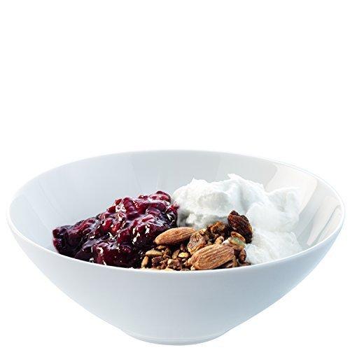 LSA International 18 cm Dine Cereal/Dessert Bowl Coupe, White (Pack of 4) by LSA International Coupe Cereal Bowl