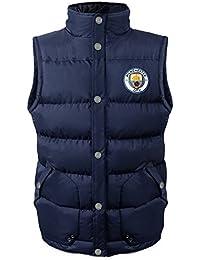 Manchester City FC Officiel - Gilet rembourré sans Manches - thème Football  - Homme 0d6a0cedcaec
