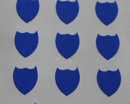 150 Etiquetas, 10x8mm Forma De Escudo, Azul, pegatinas autoadhesivas, Minilabel Formas