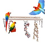 RCruning-EU Juguetes para pájaros Accesorios de Jaula Escalera de Madera Swing Pájaro Mascota Juguete para Macaw de Loro Grises africanos Parakeet Cockatiel