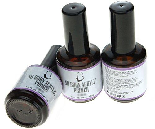 3x Gel UV primer acrylique sans brûlure Nail Art tips fantastique