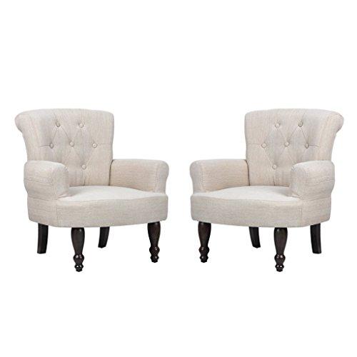 Anself 2er Set Polsterstuhl Armsessel Einzelsessel Ohrensessel Sessel 2 Farbe Optional