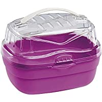 Ferplast Aladino Transportbox für Hamster, klein, 20x16x13,5cm, Rot/Rosa