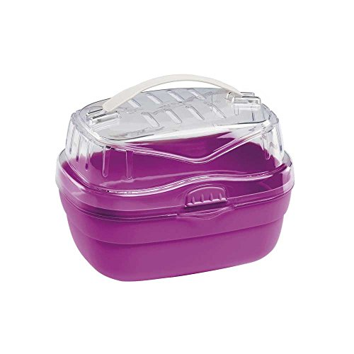 Ferplast Aladino Hamster Carrier, Small, 20 x 16 x 13.5 cm, Red/Pink Test