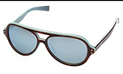 Nike Oversized Sunglasses (Tortoise and Light Blue) (VINTAGE MDL. 98 EV0689 204 62)