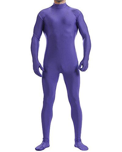 SaiDeng Unisex Colletto Tondo Colori Solidi Stretch Costumi Unitard Zentai