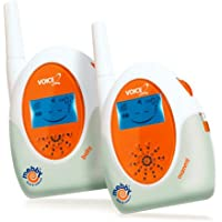 Medel - Baby monitor Mebby a trasmissione vocale con raggio fino a 800 m, colore: Bianco/Arancione