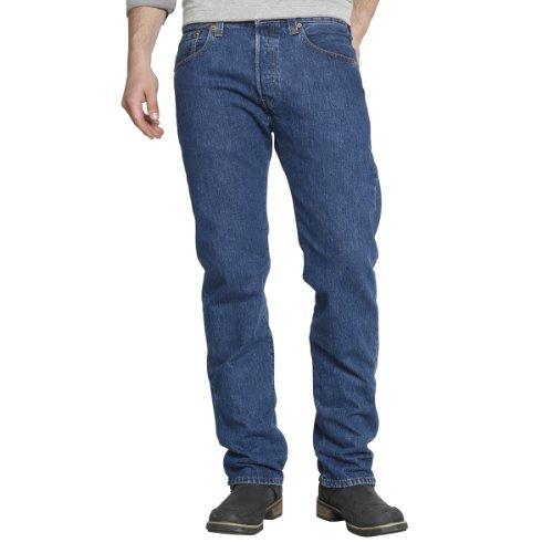 Levi 501 Original Fit, Jeans Uomo, Blu (Stonewash), W38/L36
