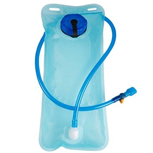 leoboone 2L tragbare Größe Fahrrad-Fahrrad-Mund-Wasser-Blasen-Beutel-Hydratation Outdoor-Camping-Sport Wandern Wasser-Beutel-Blau