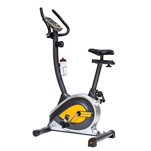 TechFit B400 Magnetisches Fitness Fahrrad Ergometer - Cardio - Fitnessfahrrad mit einstellbarem Sattel, Puls-Sensoren und LCDMonitor. Resistenter Heimtrainer für die perfekte Figur.