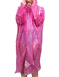 Raincoat en plastique Travel Camping Rainwear Emergency Waterproof Disposable 5 Pcs