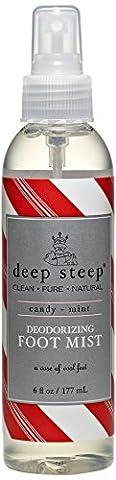 Deep Steep Deodorizing Foot Mist, Candy Mint 177 ml
