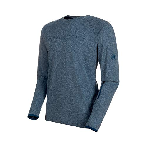 Mammut Herren Camiseta M/L Crashiano Hombre Unterhemd, Blaugrün meliert (Wing Teal Melange), L