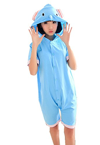 Damen Kostüm Elephant (Kenmont Jumpsuit Tier Cartoon Einhorn Pyjama Overall Kostüm Sleepsuit Cosplay Animal Sleepwear für Kinder / Erwachsene (Small, Elephant))
