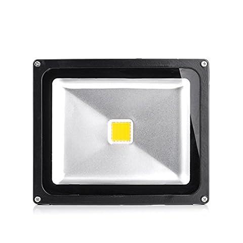 OUMIZHI 30W Floodlight Warmwhite Noir Boîtier en aluminium IP65 Lampe à LED étanche Lampe murale Projecteur Floodlight LED Lampe de jardin Acier extérieur