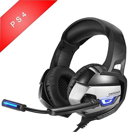 [PS4 Xbox One PC Estéreo Juego Auriculares] MallTEK Gaming Cascos Bajo Profundo Estéreo LED Gaming Headsets con Micrófono, Control de Volumen en Línea para Xbox PS4 PC Portátil Mac iPad iPod