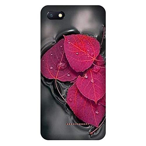 hot sale online 0bab3 3fce0 Shopoholics Mi Redmi 6A Back Cover Hard Case Designer Printed Pink Leaf in  Water