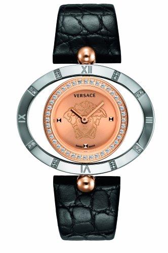Versace-91Q89FD997-S009-Reloj-analgico-de-cuarzo-unisex-correa-de-cuero-color-negro
