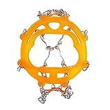 LOVEWO Crampons 10 Steel Tooth Anti-Skid-EIS Und Schneeschuhschaufeln Für Höhenegenksteigen Und Schnee (Orange)