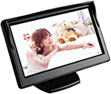 "BW 5"" High Resolution HD 800*480 (no 320*240) Car TFT LCD Monitor Screen with 2ch Video for Car Rearview Backup Cameras/Car DVD/VCD/GPS/other Video Equipment"