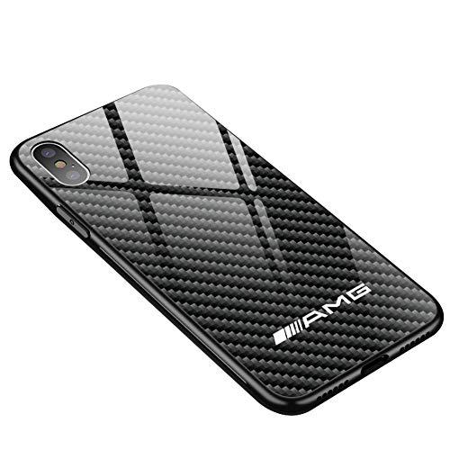 KKSY Hülle für iPhone AMG Carbonfaser-Persönlichkeit passend für iPhone X / 8 / 8Plus / 7 / 7Plus / XS/XS Max/XR (84458850),iPhoneX/XS