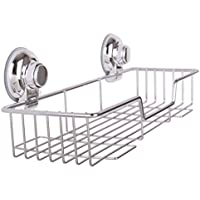 Homeself cucina bagno in acciaio INOX rettangolo doccia con ventose, super forte ventosa gancio doccia (Laminato Ceramic Tiles)