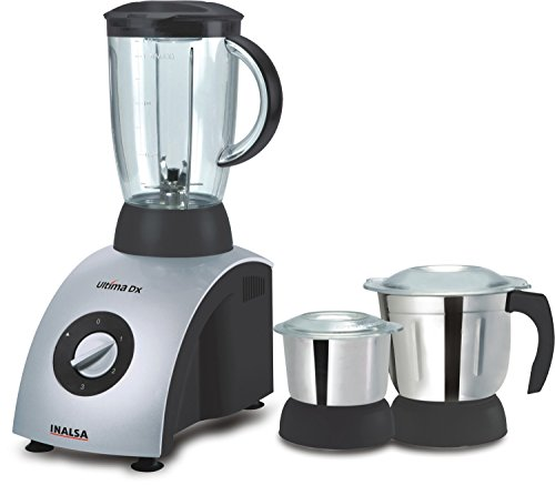 Inalsa Ultima Dx 750-Watt Mixer Grinder with 3 Jars (Grey)  available at amazon for Rs.2995