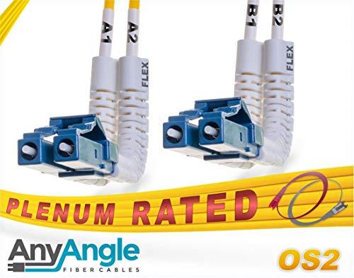 FiberCablesDirect OS2 LC LC Glasfaserkabel, AnyAngle Duplex 9/125 Singlemode Jumper 30 Meter (98.42ft) 30 Meter (98.42ft) -