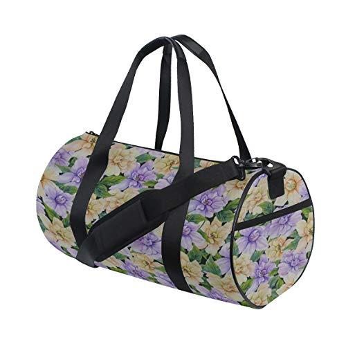 Elegante duftende Gardenia benutzerdefinierte leichte große Yoga Gym Totes Handtasche Reise Canvas Duffel Taschen mit Schulter Crossbody Fitness Sport Gepäck für Mädchen Männer Frauen -