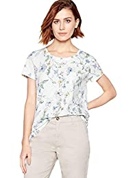 cf56346fa5f37 Principles Womens White Floral Print Cotton T-Shirt