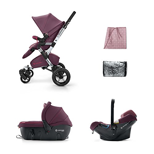 CONCORD KINDERWAGENSET TRAVEL-SET NEO AIR-SLEEPER, RASPBERRY PINK, KOLLEKTION 2015